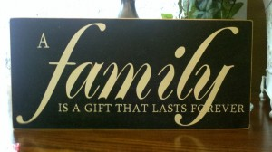 Personalized Family Vinyl Sign
